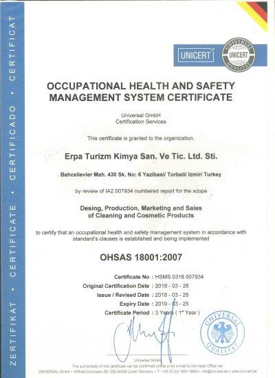 OHSAS 18001 İNG